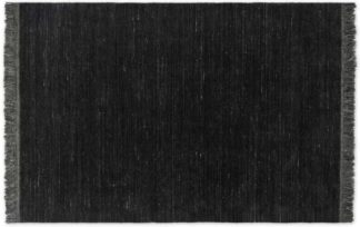 An Image of Celsi Wool Pile Rug, Large 160 x 230cm, Dark Charcoal