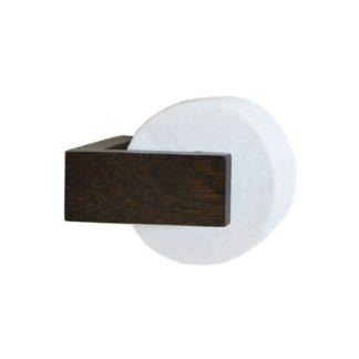 An Image of Wireworks Dark Oak Toilet Roll Holder