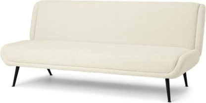 An Image of Moby Click Clack Sofa Bed, Faux Sheepskin