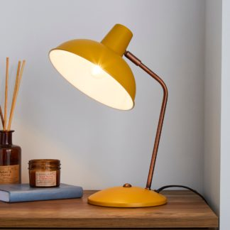 An Image of Leiden Ochre Desk Lamp Ochre