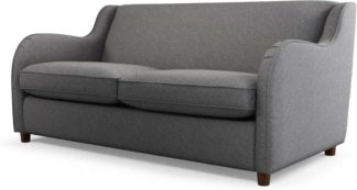 An Image of Helena Sofabed with Memory Foam Mattress, Textured Weave Smoke Grey
