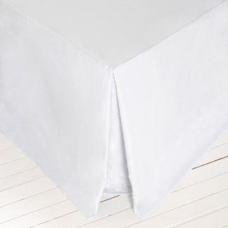 An Image of Dorma 500 Thread Count 100% Cotton Satin Plain White Valance White