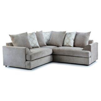 An Image of Washington Fabric Corner Sofa Grey