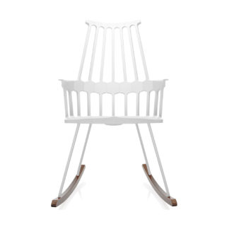 An Image of Kartell Comback Rocking Chair White/Wood
