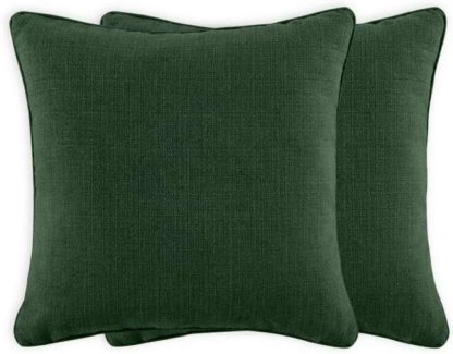 An Image of Marzia Set of 2 Cushions, 44 x 44cm, Leaf Green