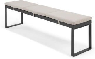 An Image of Catania Large Garden Dining Bench, Grey and Polywood