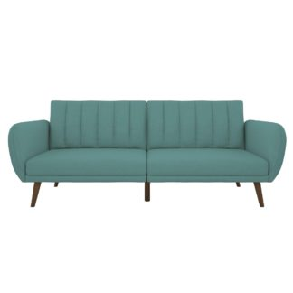 An Image of Brittany Linen Sofa Bed Blue