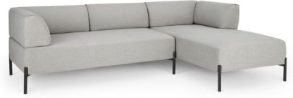 An Image of Kiva Right Hand Facing Chaise End Corner Sofa, Hail Grey