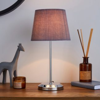 An Image of Jali Charcoal Table Lamp Charcoal