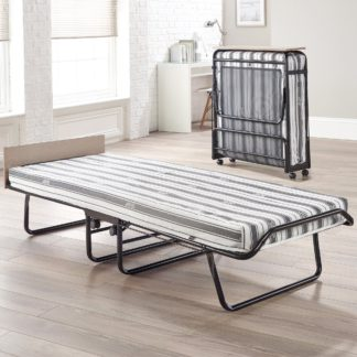 An Image of Supreme Airflow Fibre Folding Bed Black