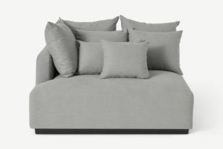 An Image of Laurin Left Hand Sofa Unit, Frost Grey Linen