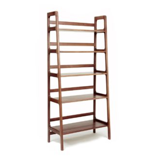 An Image of Scp Agnes High Shelving Unit Walnut