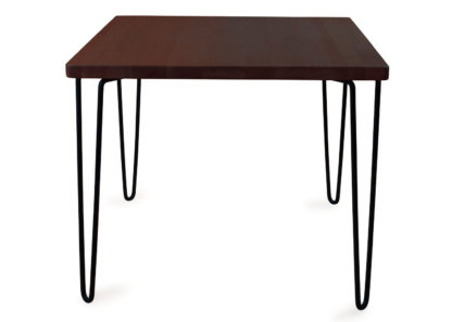 An Image of Heal's Brunel Dining Table Square Dark Wood