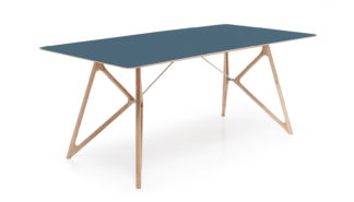 An Image of Gazzda Fawn Tink Table Blue 160cm
