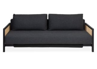 An Image of Heal's Cane Sofa Bed Dessin Dark Grey