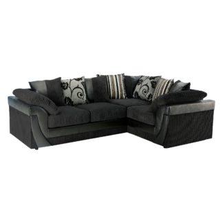 An Image of Lush Scatter Back Right Hand Corner Sofa Black