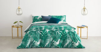 An Image of Jangala Cotton Duvet Cover + 2 Pillowcases Double, Green UK