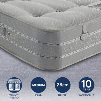 An Image of Pocketo 1500 Reflex Plus Mattress White