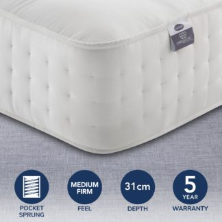 An Image of Silentnight 2800 Pocket Natural Ortho Mattress White