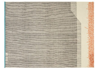 An Image of Gandia Blasco Backstitch Calm Rug in Brick Red 200 x 300cm