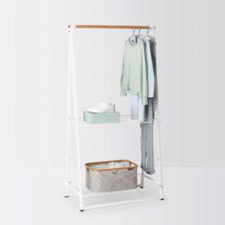 An Image of Brabantia Large White Linen Clothes Rack White