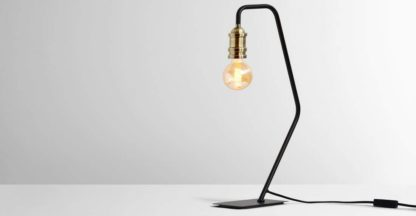 An Image of Starkey Table Lamp, Black and Brass