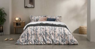 An Image of Abia Cotton Duvet Cover + 2 Pillowcases, Double, Plaster Pink