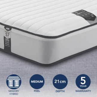 An Image of Jay-Be Benchmark S7 Tribrid Pocket Sprung Memory Mattress White