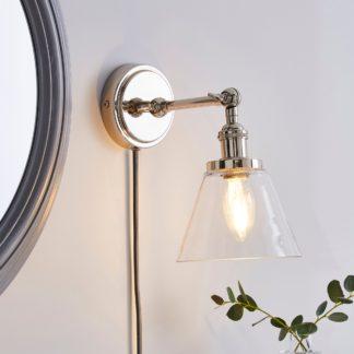 An Image of Dorma Purity Nickson EasyFit Plug-In Wall Light Chrome