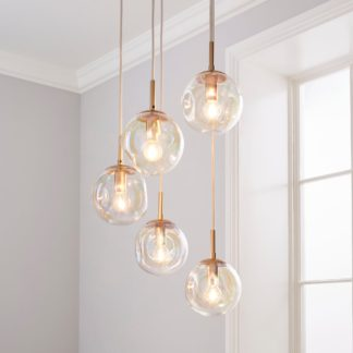 An Image of Alexis 5 Light Cluster Fitting Iridescent Silver
