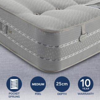 An Image of Pocketo 1500 Pocket Sprung Mattress Grey