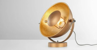 An Image of Chicago Table Lamp, Antique Copper & Gold