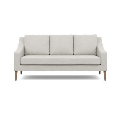 An Image of Heal's Richmond 3 Seater Sofa Capelo Linen-Cotton Sea Salt Walnut Feet