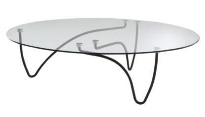 An Image of Ligne Roset Rythme Low Table Black