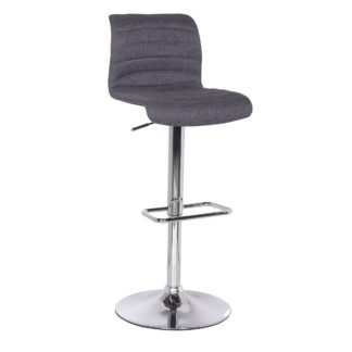 An Image of Vigo Bar Stool Grey Fabric Grey