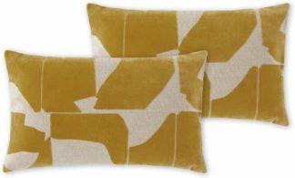 An Image of Rudzi Set of 2 Cushions, 30 x 50cm, Tan