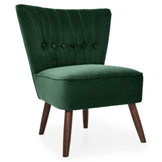 An Image of Isla Velvet Cocktail Chair - Emerald Green