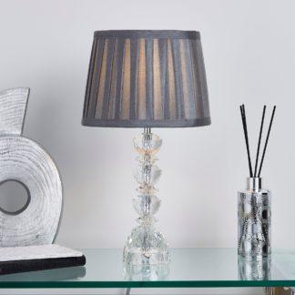 An Image of Dorma Mini Genevieve Table Lamp Grey