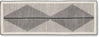 An Image of Camden Wool Runner 66 x 200cm, Black and Off White