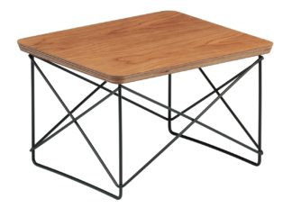 An Image of Vitra Eames Occasional Table LTR American Cherry Veneer Basic Dark Base