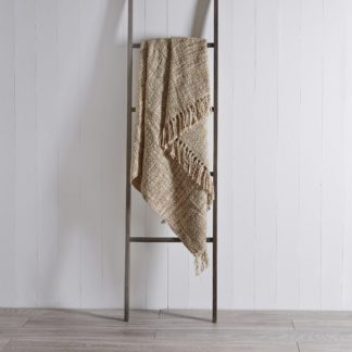 An Image of Camden 130cm x 180cm Throw Cream (Natural)