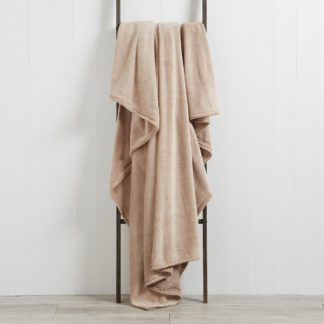 An Image of Seriously Soft 180cm x 230cm Throw Light Brown / Natural