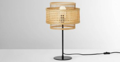 An Image of Yen Table Lamp, Natural Cane