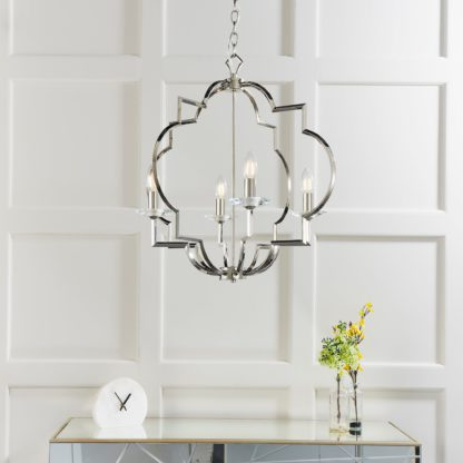 An Image of Endon Garland 4 Light Ceiling Fitting Chrome Chrome