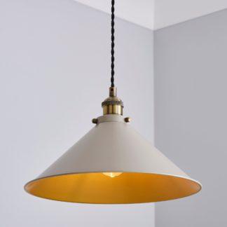 An Image of Logan 1 Light Ceiling Fitting Mushroom