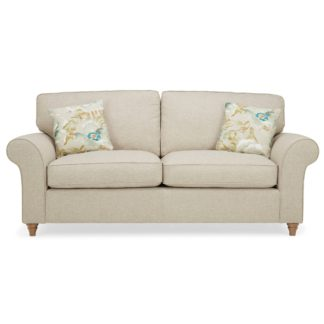 An Image of Rosa 3 Seater Sofa Beige