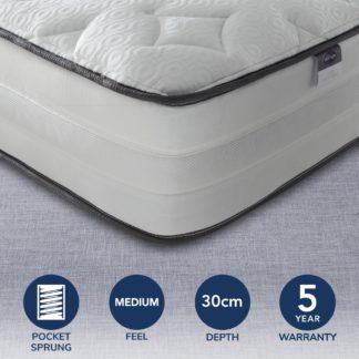 An Image of Silentnight 2000 Pocket Luxury Mattress White
