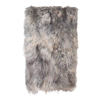 An Image of The Organic Sheep Icelandic Sheepskin Extra Large Rug Natural Grey