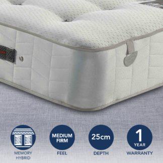 An Image of Pocketo 1000 Cool Blue Memory Foam Mattress White