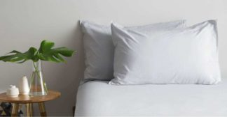 An Image of Alexia 100% Cotton Pair of Pillowcases, Light Grey